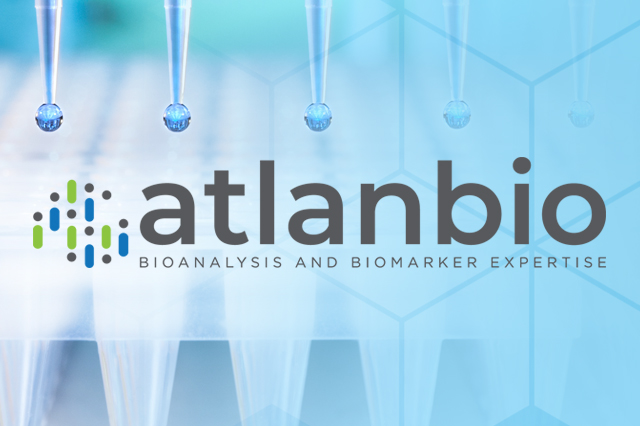 Atlanbio logo over image of pipettes