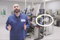 Lab manager leading 360-  degree virtual tour of Charles River's United States Accugenix lab