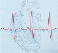 illustration of heart with EKG