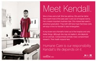 Humane Care Poster - Meet Kendall