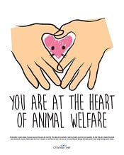 Humane Care Poster - You Are at the Heart of Animal Welfare